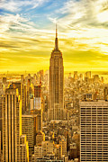 New York Vista Framed Prints - Reaching for the Sky Empire State Building New York City Framed Print by Sabine Jacobs