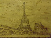 Landmarks Pyrography Metal Prints - Reaching High Metal Print by JJ Oosthuizen