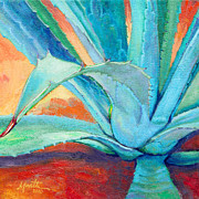 Agave Paintings - Reaching Out by Athena  Mantle