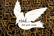 Reading Mixed Media Posters - Read Free Your Mind Camel Poster by Angelina Vick