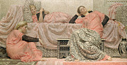 Somber Prints - Reading Aloud Print by Albert Joseph Moore