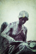 Statue Photos - Reading Angel by Joana Kruse