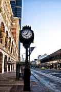 Terminal Digital Art Prints - Reading Terminal Clock - Market Street Print by Bill Cannon
