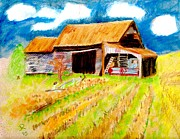 Old Barn Mixed Media Posters - Ready for Harvest Poster by Jennifer Ransom