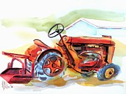 Tractor Mixed Media Framed Prints - Ready for Work  Framed Print by Kip DeVore