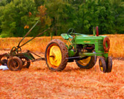 Old Tractors Paintings - Ready for Work by Michael Pickett
