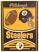 Nfl Sports Paintings - Ready Set Go Steelers by Jana Ford