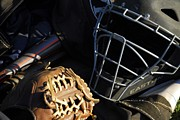 Catchers Mask Posters - Ready  Set  Play Poster by Cindy Manero