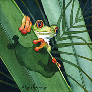 Frog Paintings - Ready to Leap by Lyse Anthony