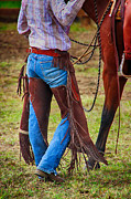 Cowboy Photos Prints - Ready to Ride Print by Dawn Young