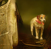 Canines Digital Art - Ready To Ride by Kari Nanstad