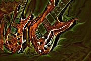 Lebron Art - Ready To Rock DIgital Guitar Art by Steven Langston by Steven Lebron Langston
