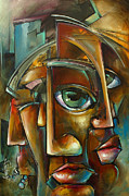 Facial Expressions Framed Prints - Reality Side Effects Framed Print by Michael Lang