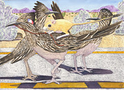 Roadrunner Paintings - Really? by Catherine G McElroy