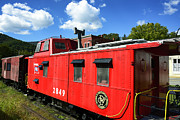 Old Caboose Photos - Really Red Caboose by Thomas R Fletcher