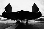Manhatan Prints - rear of Lockheed A12 Blackbird on the flight deck of the USS Intrepid  Print by Joe Fox