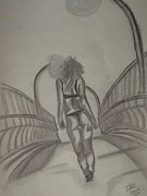 Rear View Drawings - Rear View by Ibz Elbahja