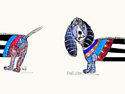 Featured Drawings - Rear View.dog Days by Brian Buckley