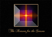 Generated Glow Glowing Posters - Reason for the Season Poster by Carolyn Marshall