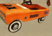 Transportation Art - Rebel Pedal Car by Michelle Calkins