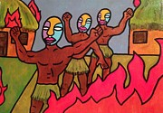 Indian Tribal Art Paintings - Rebellion by Eddie Pagan