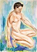 Male Painting Originals - Rebirth of Apollo by Donna Blackhall