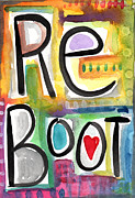 Art For Office Prints - Reboot Print by Linda Woods
