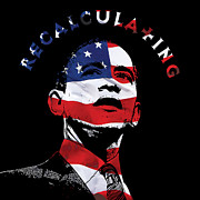 Barack Obama Digital Art Prints - Recalculating Obama Print by John Bruno