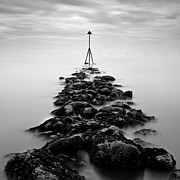 Black And White Photography Metal Prints - Receding Tide Metal Print by David Bowman