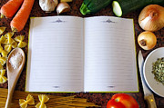Spaghetti Prints - Recipe Book Print by Carlos Caetano
