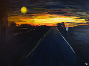 Streetlight Painting Prints - Recklessly Into the Sun Print by Nathan Whitaker