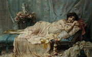 Couch Digital Art - Reclining Beauty by Hanz Zatzka
