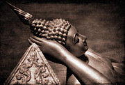 Buddhism Metal Prints - Reclining Buddha Metal Print by Adrian Evans