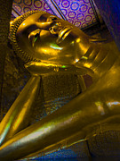 Religious Art Photos - Reclining Buddha by Douglas J Fisher