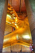 Asian Photos - Reclining Buddha - Wat Pho - Bangkok Thailand - 01133 by DC Photographer