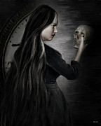 Victorian Digital Art - Recognition Of Death by Lourry Legarde