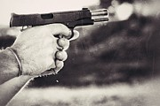 Colt 45 Prints - Recoil Print by AK Photography