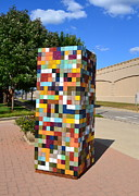 Square Sculptures - Reconstructing Fences by Michelle Calkins