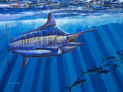Blue Marlin Paintings - Record Off0011 by Carey Chen