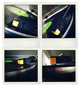 Electronics Posters - Record player Poster by Les Cunliffe