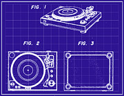Phonograph Posters - Record Player Patent Poster by Digital Reproductions