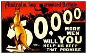 World War One Framed Prints - Recruiting Poster - WW1 - Australian Promise Framed Print by Benjamin Yeager