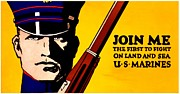 Usmc Prints - Recruiting Poster - Join the Marines Print by Benjamin Yeager