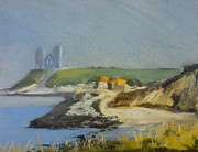 Haze Pastels Metal Prints - Reculver Haze Metal Print by Paul Mitchell