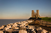 Reculver Towers Print by Ian Hufton