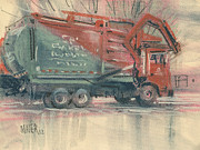 Truck Pastels Prints - Recycle Print by Donald Maier