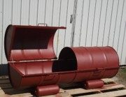 Barrel Sculptures - Recycled Steel Casket-barbecue by Antonin Gauthier