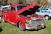 Old Trucks Photos - Red 1954 GMC 100 Truck 5D26452 by Wingsdomain Art and Photography