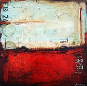 Jolina Anthony Prints - Red Abstract Print by Jolina Anthony