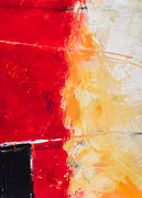 Cadmium Red Posters - Red Abstract No. 1 Poster by Palatia Photo